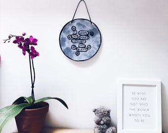 I Hope The Stars Comfort You At Night - Moon Wall Hanging