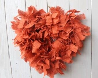 rustic burlap wreath - rag wreath - burlap wreath - rustic decor - welcome wreath - front door wreath - door hanger - rustic wreath - wreath