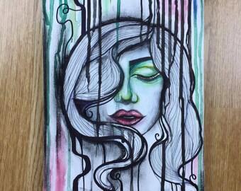 Watercolour lady - original or print artwork