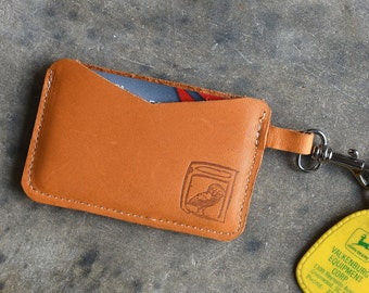 Leather Card Holder //  Men's Wallet // Handmade leather wallet / card holder