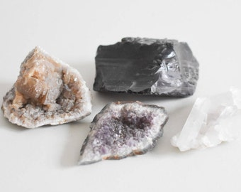 Vintage druzy collection, agate collection, semi precious geode collection Ref: 231