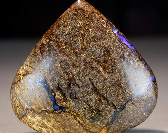 Boulder Opal Matrix Cab  - 68.7ct, Polished Australian Opal Gemstone