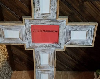 Barnwood Picture Frame Crosses