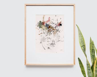 Abstract art composition - Contemporary art - Watercolor Print - Limited edition. Untitled I.
