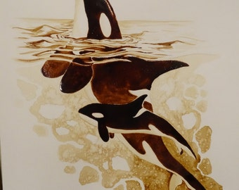 Orcas Coffee Painting