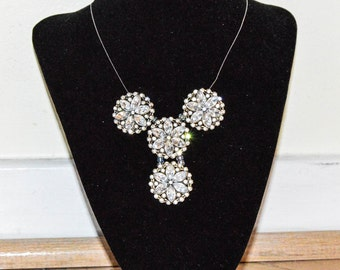 Necklace,flower necklace, flower