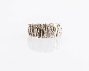 Silver ring for woman, Handmade