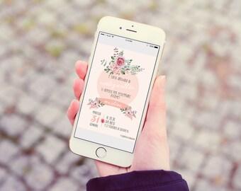 Digital invitation for smartphones