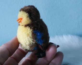 Cute wool Steiff bird! Steiff pom pom bird