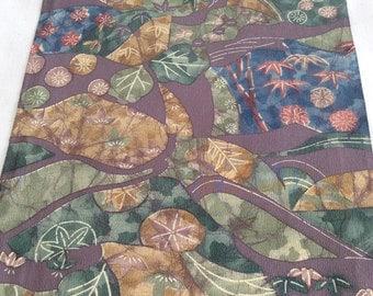 Vintage Kimono Silk Fabric, Japanese Fabric, Chayatsuji Pattern