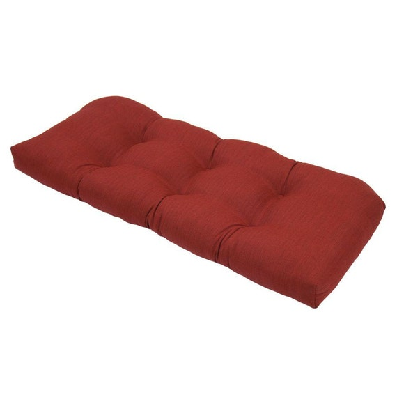 Solid Red Cushion Tufted Bench Cushion School House By Kirtamhome