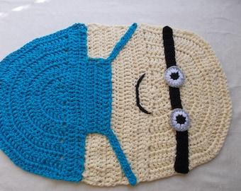 Minion Children Rug, Handmade Rug, Baby Bedroom Rug, Children Crochet Rug,  Kids