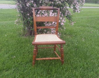 Nice vintage caned desk or side chair