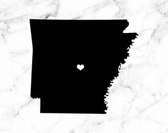 Arkansas decal, I heart Arkansas decal, Decals for cars, Arkansas laptop decal