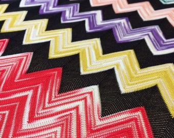 Multicolor fabric, Gorgeous chantilly lace fabric from Italy, MISSONI Fabric A00059