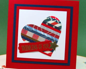 Thinking of You, Patriotic, Military, Just Because, Miss You, Card, Blank Inside (#72)