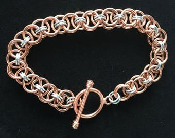 Copper and aluminum Helm Chain bracelet