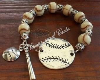 Baseball Bracelet Set