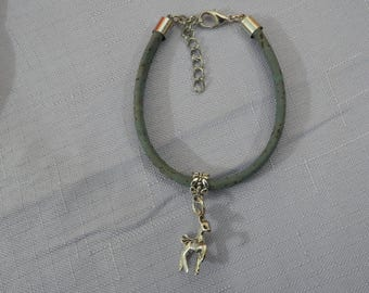 Anniversary of Canada's 150th Cork Bracelet, Deer