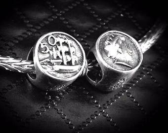 "NZ Coin Charm Bead 925 Sterling Silver Special Edition ""SALE"""
