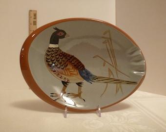 Stangl Pheasant Oval Ashtray #3926