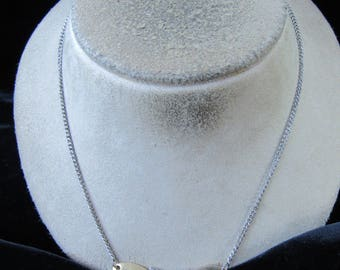 Vintage Signed Avon Two Tone Butterfly Pendant Necklace