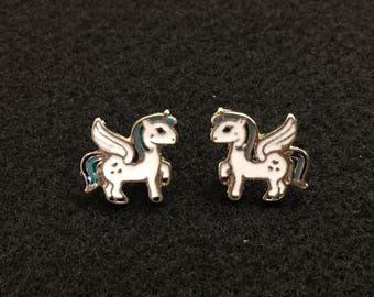 Unicorn Mythical Creature Metal stud earrings