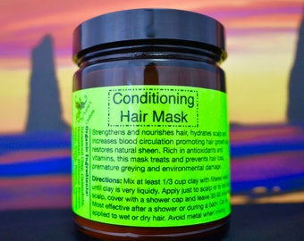 Conditioning Hair Mask -Organic- 9 Oz.