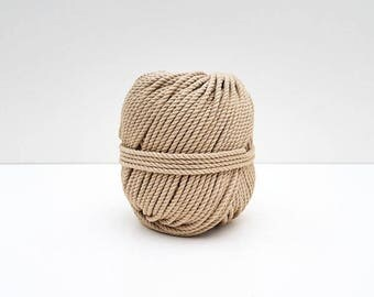 Ball of rope in cotton for macramé - ECRU