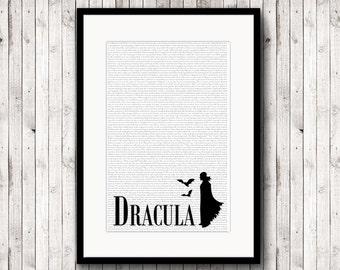 Dracula, Vampire Poster, Dracula Print, Monster Art, Print Horror Poster, Vintage Horror Print, Art Print, Gothic Wall Decor, Literary Gifts