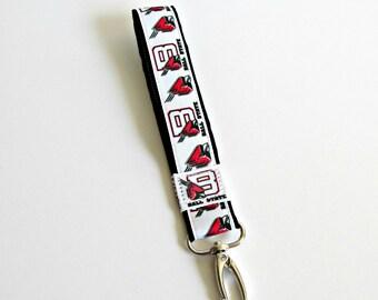 Ball State University Keychain / Wristlet Keychain / Key fob / BSU / Indiana / Wristband keychain