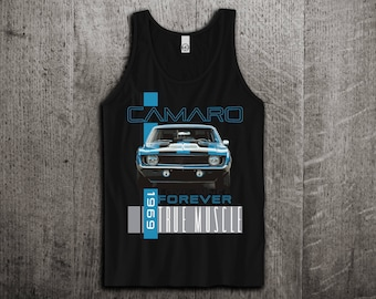 Chevy Camaro Tank Top, Camaro t shirts, Chevy shirts, cars tanks, 1969 Camaro shirts, Muscle car t shirts, Unisex Tank top by Motomotiveink