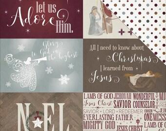 PhotoPlay Christmas Cardstock - Luke2 4x6 Cards, Luke 2 by Traci Smith