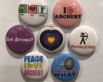 Archery Girl Magnets - set of 7