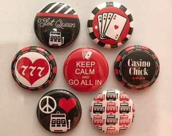 Casino Magnets - set of 7