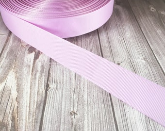 "Solid light orchid Grosgrain - 7/8"" Grosgrain ribbon - 5 yard - craft ribbon - DIY hair bow - DIY headband - wedding  - Orchid grosgrain"