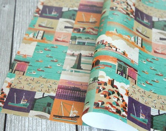 Leigh-on-Sea/Southend Poster Collage - Wrapping Paper / Gift Wrap
