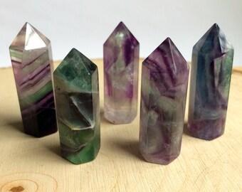 Rainbow Fluorite Crystal Generator / Point