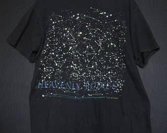 Heavenly Bodies Constellations 1992 Vintage Tshirt