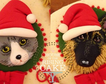Bas-relief Cupcake, Cookie or Cake Toppers (Animal Theme)