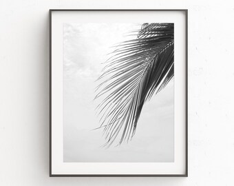 Prints Wall Art, Botanical Prints, Coastal Wall Art, Digital Download Art, Tropical Leaf Print, Bedroom Wall Decor, Palm Leaf Print, Poster