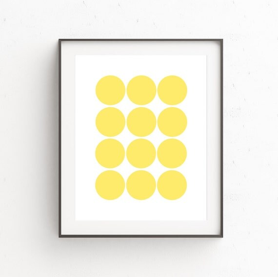 Yellow Wall Art Geometric Wall Art Abstract Art Prints