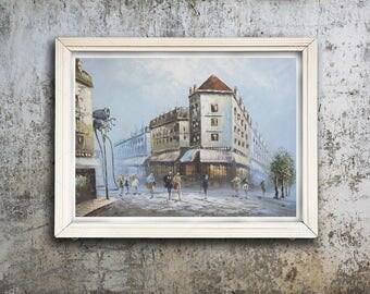 Repurposed vintage painting - Alien Invasion Thrift shop painting