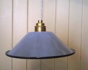 Denim Blue Period Style Enamel Lampshade