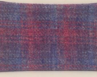 January sale Harris tweed purse