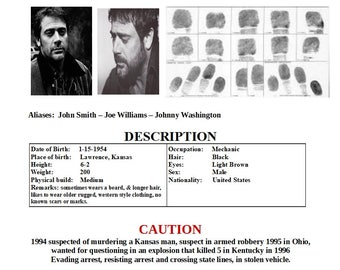 John Winchester FBI Most Wanted Poster
