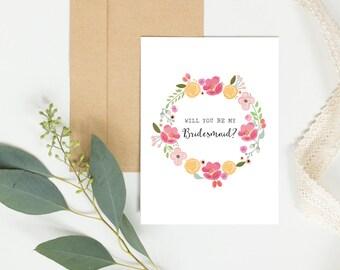 Will you be my bridesmaid card, Bridesmaid card, wedding card, bridal party card, bridesmaid gift, will you be my bridesmaid