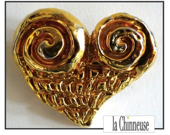 CHRISTIAN LACROIX BROOCH / brooch Christian Lacroix / french Vintage Jewel Christain Lacroix.
