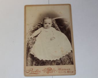 Cabinet Card from Porter in Allegan, Mi - 1900's (P60)
