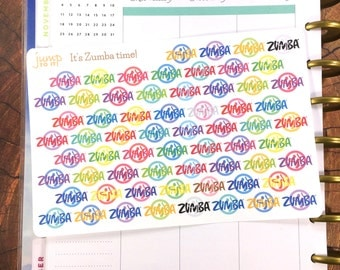 Dance Salsa Exercise Workout stickers - for use with Erin Condren Happy Planner